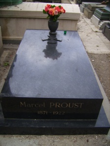 "my exclamation of ""proust!"" upon stumbling onto this icon's final resting place prompted an argument with my boyfriend. i was geeked; he was startled."