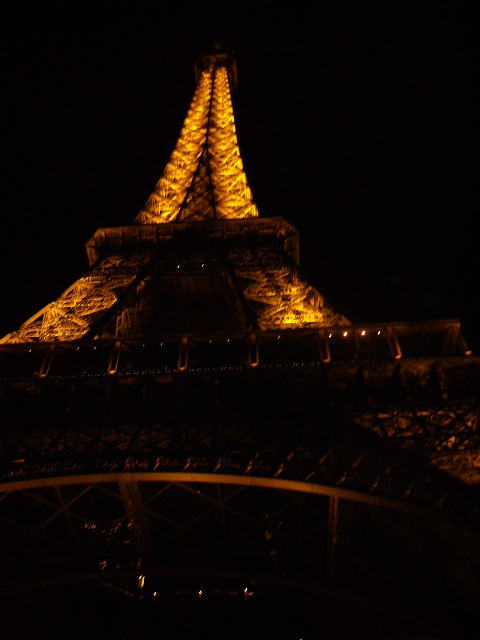 la tour eiffel, night view.