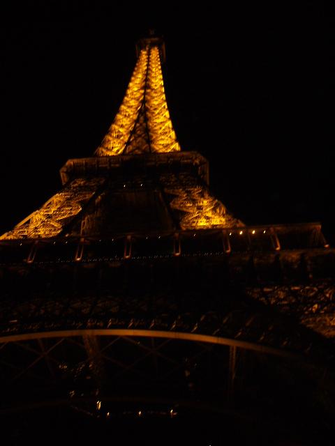 la tour eiffel, night view.