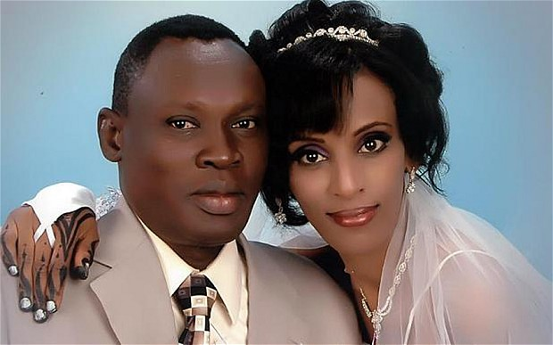 Meriam Ibrahim, pictured with her husband of three years, Daniel Wani, a biochemist and Sudanese U.S. citizen